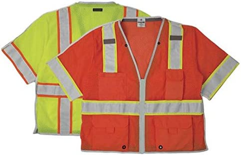 ML Kishigo - BRILLIANT SERIES Class 3 Breakaway Vest, Color: Lime, Size: 3X-large