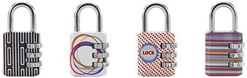 Master Lock 1509EURDAST Lucchetto, Combinazione Programmabile a 3 Cifre, Motivi a Stampa, 30 mm