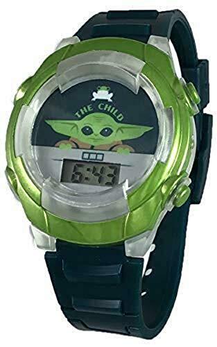 Star Wars Mandalorian Baby Yoda The Child Boy's Digital Watch with Flashing Lights