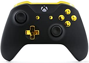 Black/Gold UN-MODDED Custom Controller Compatible with Xbox One S/X Unique Design (with 3.5 Jack)