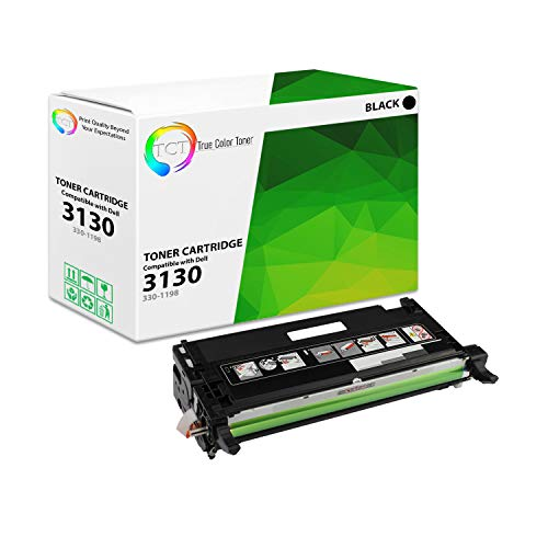 TCT Premium Compatible Toner Cartridge Replacement for Dell 330-1198 Black High Yield Works with Dell 3130 3130CN 3130CND Printers (9,000 Pages)
