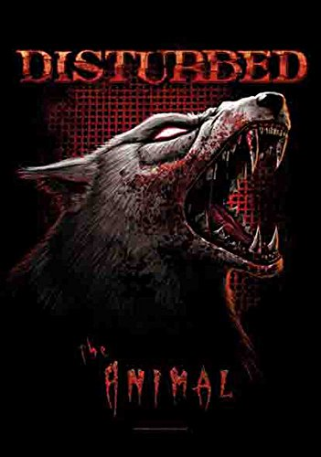 Disturbed – The Animal Flag – poster drapeau 100% polyester – 75 x 110 cm