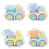 FLORMOON Tire hacia atras el Coche de Juguetes Pull Back Cars 4 Piezas Mini Linda Modelo de Auto Coche de Juguete de Comida rpida de Dibujos Animados Juego de Coches de Juguete para nios pequeos