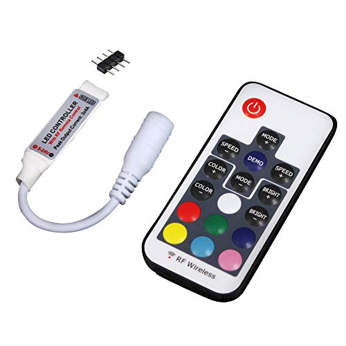 UltraBright 17 Key Tasten RF Remote Control Fernbedienung, 5V/12V/24V 12A Mini Controller Kontroller Empfänger für SMD RGB LED Fee Beleuchtung Strip Licht Streifen