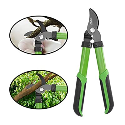 """WilFiks 15"""" Mini Bypass Lopper, Garden Pruning Shears, Tree Trimming Hand Tool, Classic Steel Hand Gardening Scissors with A Comfortable, Shock Absorbing Handle, Strong Pruner for Tree Branches"""