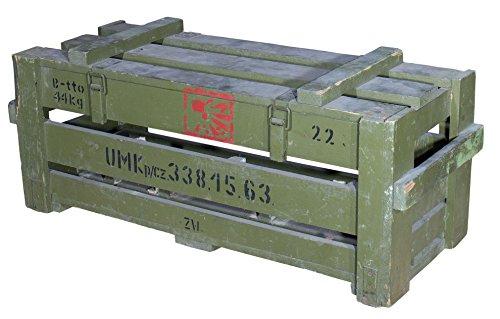 Historische Munitionskiste in grüner optik 87x36x34cm