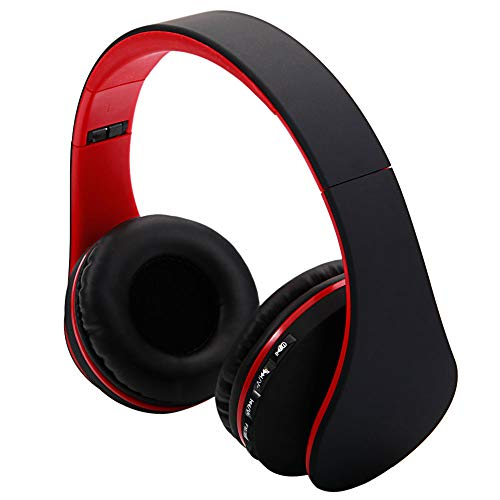 best-good HY-811 Foldable FM Stereo MP3 Player Wired Bluetooth Headset Black & Red ?US Shipping