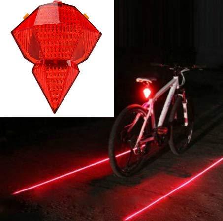 Fahrrad Rücklicht USB Wiederaufladbares Fahrradrücklicht 2 Lichtquellen LED- und LD 3-Lichtmodi Einfaches Anbringen an wasserdichtem rotem Rücklicht mit USB-Kabel und Ladegerät für Fahrradsicherheit