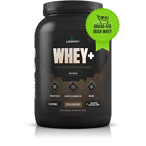 Legion Whey+ Chocolate Whey Isolate Protein Powder from Grass Fed Cows...