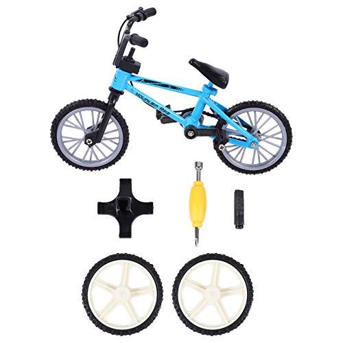 BESPORTBLE Mini Bicicletas de Dedo Azules Modelo de Bicicleta de Metal Monopatín de Dedo Miniatura Accesorios de Bicicleta de Deportes de Dedo Creativo Juego de Fiesta Regalos para Niños