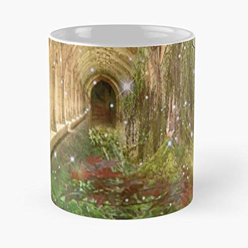 Cloisters Trees Jungle Forest Architecture Natural Gardens Flower Eat Food Bite John Best 11 Ounce Ceramic Coffee Mug