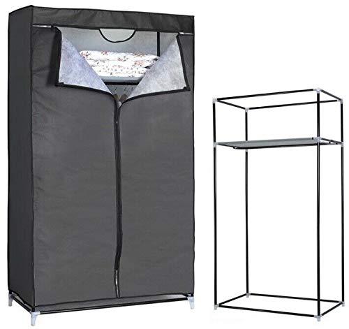 HERSIG Armario de Tela ropero Estante Lona Ropa guardarropa Closet 160x88x45cm /59452