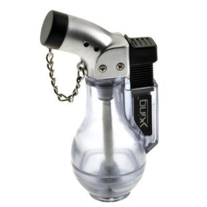 Gizga Portable Wine Bottle Shaped Refillable Butane Jet Lighter Cigarette Cigar Lighter - Transparent Color