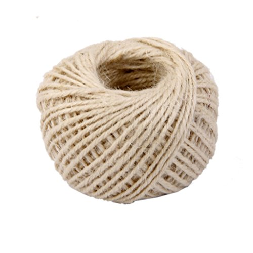 Jesica Approx 50M Hemp Rope Twine Cord String for Wrap Gift DIY – Beige