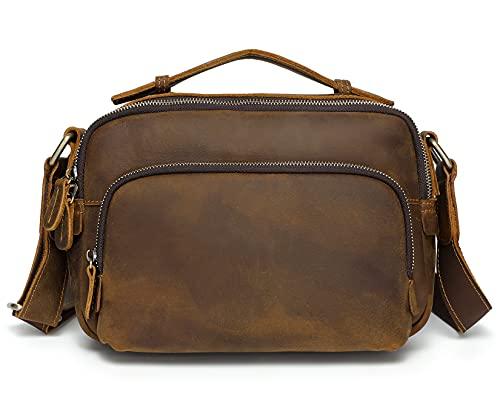 ショルダーバッグ メンズ 本革 斜め掛けバッグ 革 メッセンジャーバッグ 9.7インチiPad対応 カジュアル 自転車 通勤 通学 アウトドア メンズバッグ 鞄