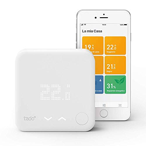 tado° Termostato Intelligente Kit di Base V3+, Gestione Intelligente del Riscaldamento, Compatibile...