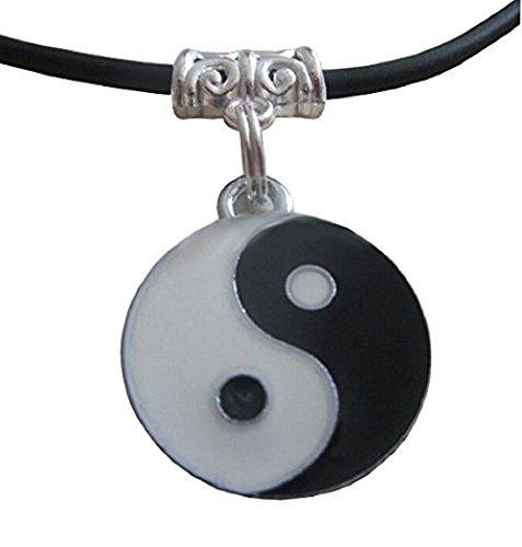 Inception Pro Infinite Collier Symbole Yin et Yang tao avec idée Cadeau PU lanière Dentelle Noire