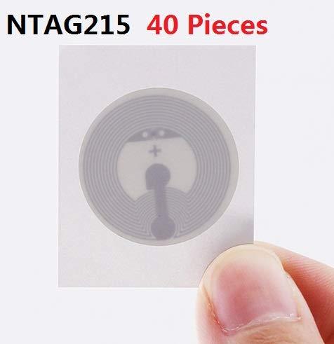 et /également compatible avec tous les appareils compatibles NFC de smartphones et 25 mm de diam/ètre Ntag213 NFC Wet Inlay 10 pcs avec 180 Bytes NFC Stickers Enti/èrement programmable