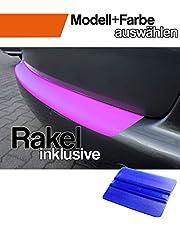 WIZUALS© - bumperbescherming + professionele rakel compatibel voor de - precies passende lakbeschermfolie, autobeschermfolie, steenslagbescherming