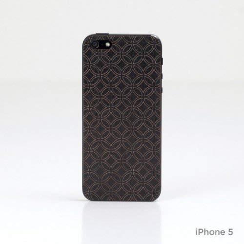 Lazerwood 22300-Cover in Legno per Apple iPhone 5/5S, con Pellicola Proteggi Schermo, Colore: Nero