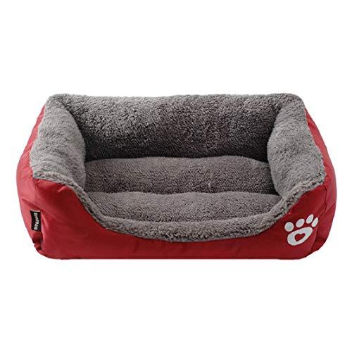 Bluelucon hondenmand wasbaar, huisdiernest hondenbed duurzaam buitendeel en ademend pluche zachte mand nest knuffelig pluche waterdicht huisdiernest kleine hond grote hond
