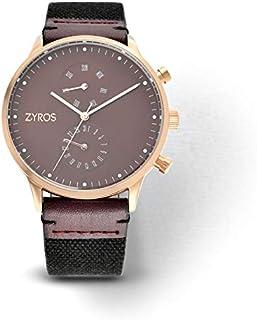 Zyros Watch for Men, Analog, Leather - ZAL018M101207