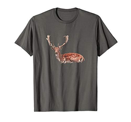 Hirsch Reh T-Shirt mit Geweih Jägershirt Jäger Wilderness