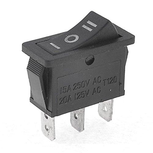 Interruptor de balancin - TOOGOO(R)AC15A/250V 20A/125V 3 Pin SPDT ON-OFF-ON 3 posiciones Interruptor de balancin de resorte