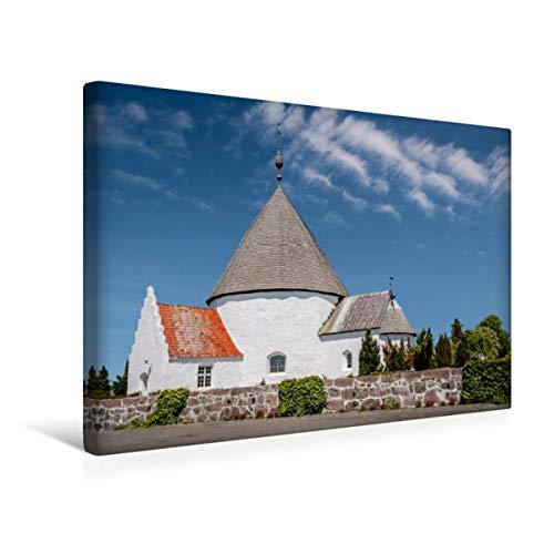 CALVENDO Premium Textil-Leinwand 45 x 30 cm Quer-Format Die R&kirche Nykirke bei Hasle, Leinwanddruck von Christian Müringer
