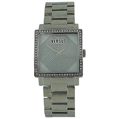 Versace AL12SBQ9F01-A099 Reloj de acero inoxidable con bisel de cristal...