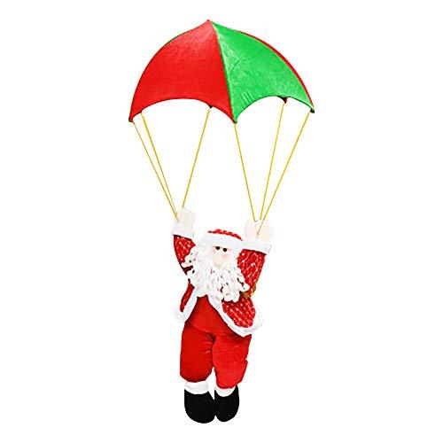 Wancooy Home Decoration Christmas Parachute Santa Snowman Indoor or Outdoor Christmas Decoration Pendant Scene Decoration Pendant (Skydiving christmas snowman)