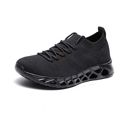Zapatos de Cuero, Zapatos Casuales, adecuados para Zapatillas de Deporte para Hombres, Zapatillas de Deporte Perforadas de Verano, Encaje y Techo de Malla de Punto Transpirable Tela Liviana