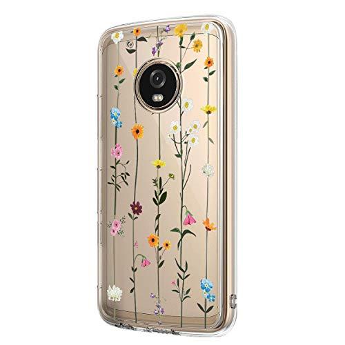 5-Blair Slim fit Case for Motorola Moto G6 Case Flower Clear Soft TPU...