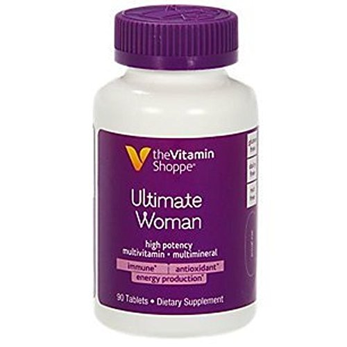 Ultimate Woman Multivitamin, High Potency Multi with Green Tea Extract – Energy Antioxidant Blend, Daily MultiMineral Supplement for Optimal Women's Health (90 Tablets) by The Vitamin Shoppe