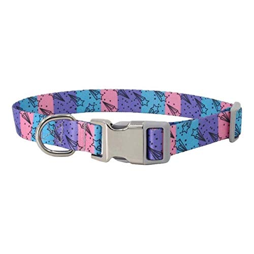 Animalerie hondenhalsband voor huisdieren, verstelbaar, voor honden, robuust, met snelsluiting, kan worden aangepast aan linnen en servies voor kleine honden, L, B