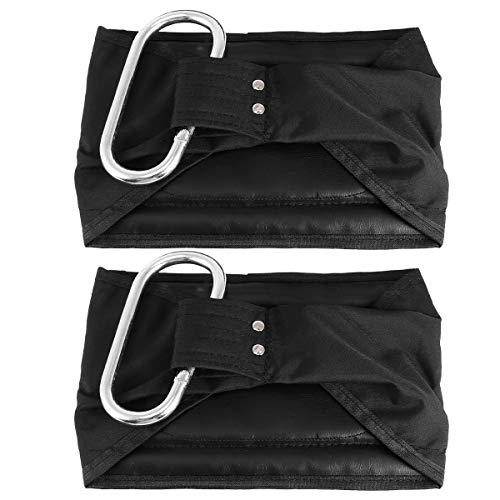 Abaodam 1 Paar gepolsterte Aufhängung zum Aufhängen, dicke Nylon-Riemen, Klimmzuggürtel, Metalllegierung, Schnalle, Bauchmuskeltraining, Klimmzugstange montiert (schwarz)