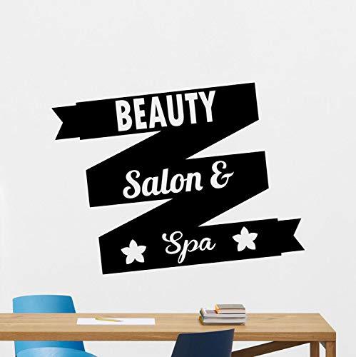 yaoxingfu Schönheitssalon Spa Wandtattoo Massage Entspannen Vinyl Aufkleber Gesundheit B Eauty Wanddekoration Remocable Kunstwand Wasserdicht ww-1 56x74 cm