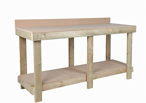 MC TIMBER PRODUCTS LTD 6ft / 1800mm NEW HAND MADE HEAVY DUTY WORK BENCH MDF TOP WITH REAR UPSTAND