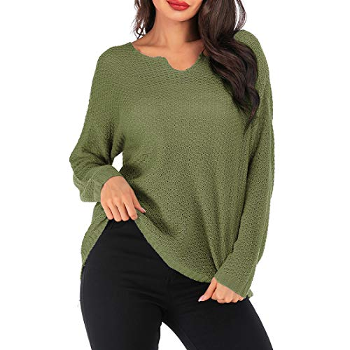 Z&Y Glaa Damen Off The Shoulder Top Langarm-Pullover mit Wasserfallausschnitt...