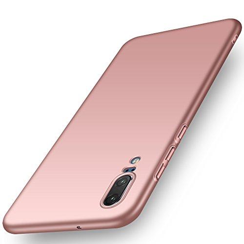 ORNARTO Funda Huawei P20, HW P20 Carcasa [Ultra-Delgado] [Ligera] Mate Anti-arañazos y Antideslizante Protectora Sedoso Caso para Huawei P20(2018) 5.8' Oro Rosa