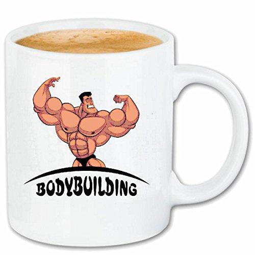 taza para café Bodybuilding GYM PESO DE FORMACIÓN GYM muskelaufbau SUPLEMENTOS DE PESAS CULTURISTA Caso duro de la cubierta Teléfono Cubiertas cubierta para el330 ml de cerámica en blanco