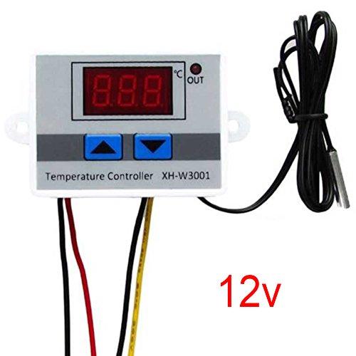 Controlador digital temperatura 12/24 / 220V Sensor temperatura 10A Control del termostato(12V)