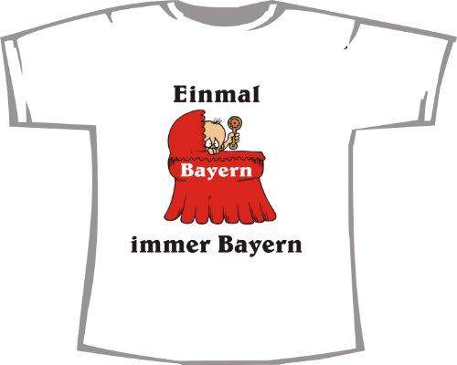Einmal Bayern - Immer Bayern; Kinder T-Shirt weiß, Gr. 12-14
