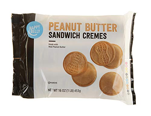 Amazon Brand - Happy Belly Peanut Butter Sandwich Crème Cookies, 16 oz