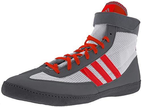 adidas Combat Speed 4 Youth Wrestling Shoes - White/Red/Grey - 2