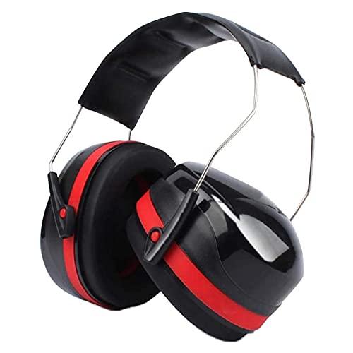 Protectores de oído para adultos y niños, para autismo, SNR, 34 dB, cancelación de ruido, bloqueo de sonido para disparar, construcción, trabajo (rojo (Style1))