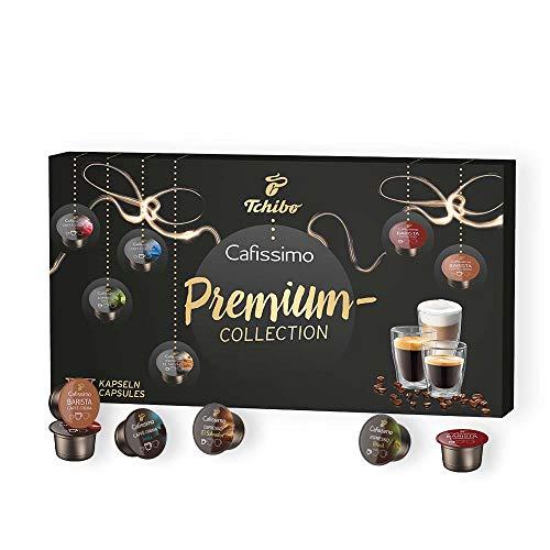 Tchibo Cafissimo Premium Kapsel- Vielfalts-Pack verschiedene Sorten Caffè Crema und Espresso, 60 Kapseln (6 x 10 Kapseln) in einer praktischen Geschenkbox