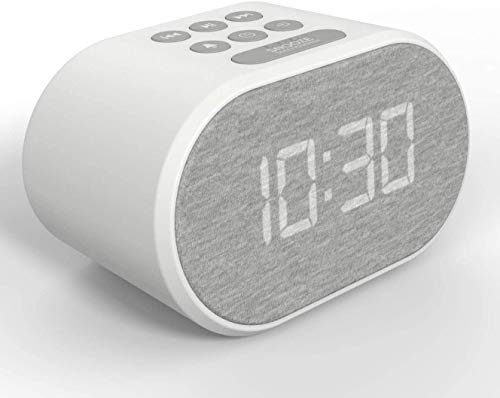 Alarm Clock Bedside Non Ticking LED Backlit Alarm Clock with USB Charger &...