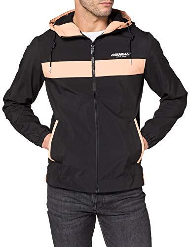 JACK & JONES Herren JORANDREW Jacket Shell-Jacke, Black/Detail:Blocking, M