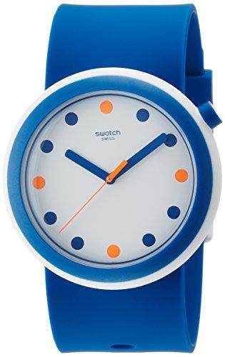 Swatch Damen Digital Quarz Uhr mit Silikon Armband PNW103